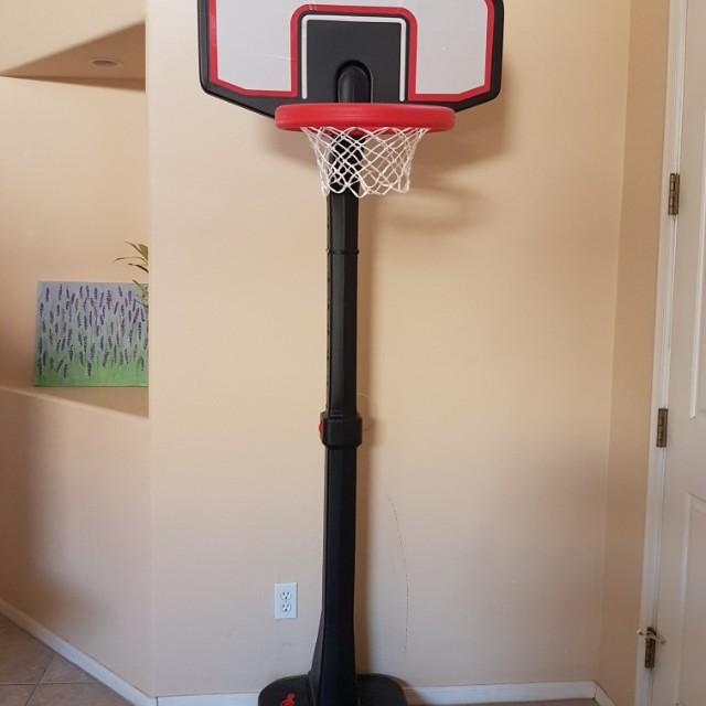 Tall standing NBA basketball court