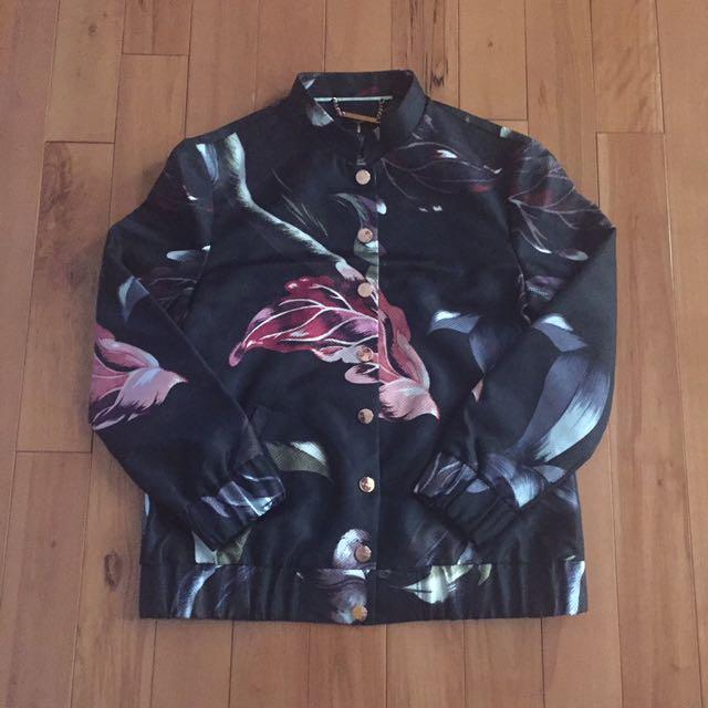 Ted Baker Floral Bomber Jacket
