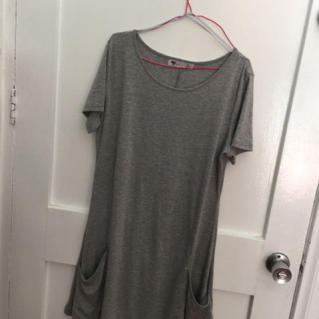 TEMT XL grey dress/top with pockets