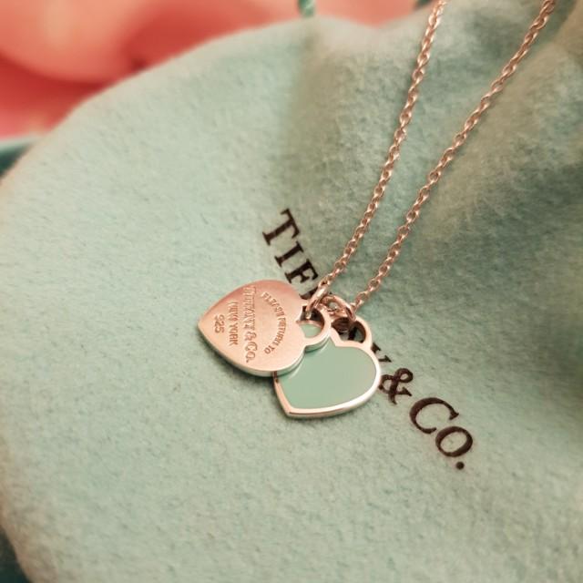 Tiffany & co. Double Heart Necklace