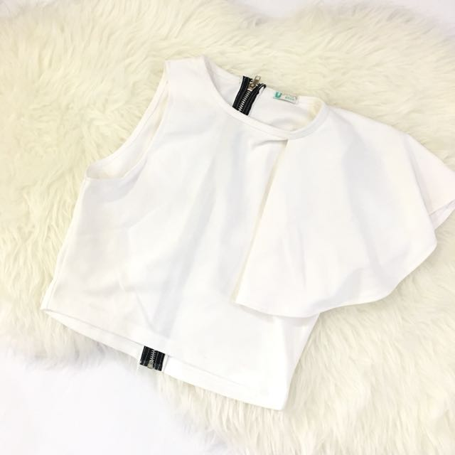Top Flare One Sleeve White