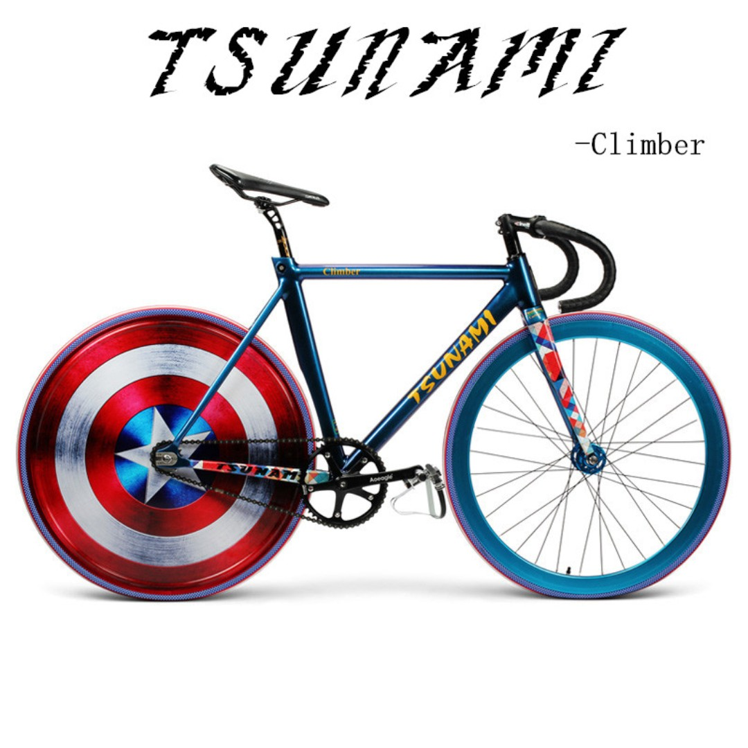 TSUNAMI fixed gear - CLIMBER, full bike/ Frameset - Carbon Fork ...