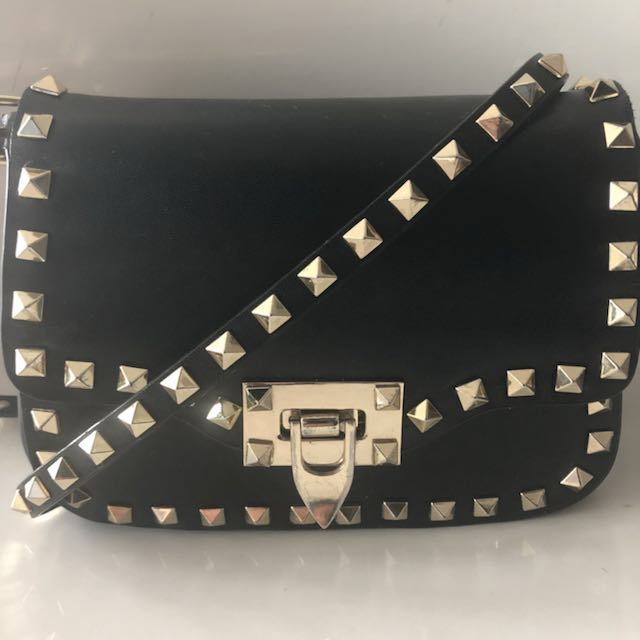 Valentino leather rock stud mini crossbody bag