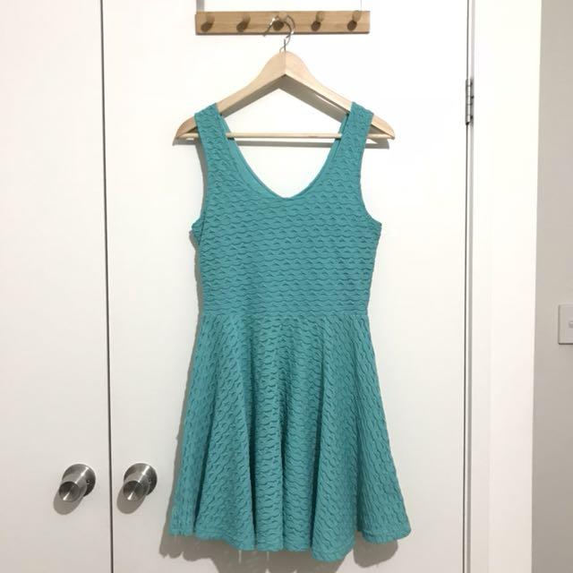 Valleygirl Teal Skater Dress