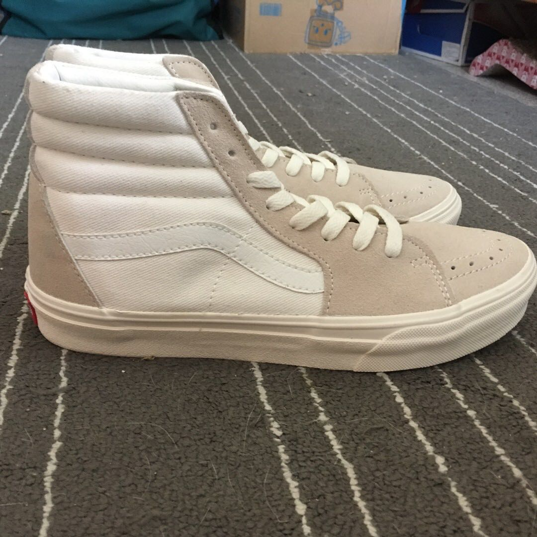 vans Sk8-hi US9 米白 old skool Era Authentic 黑白 格紋