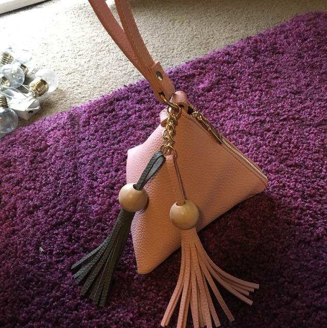 Very cute pink triangle bag