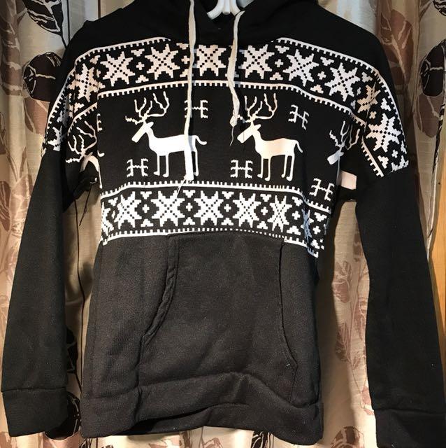 Warm black hoodie