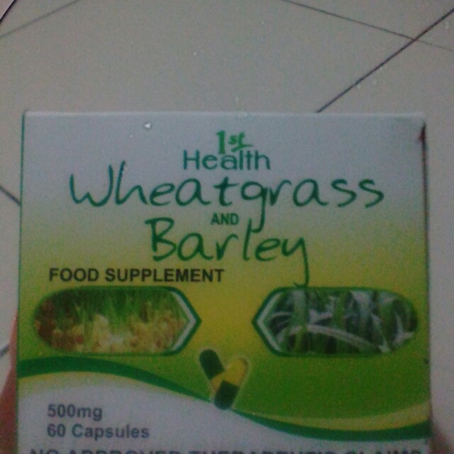 wheatgrass and barley