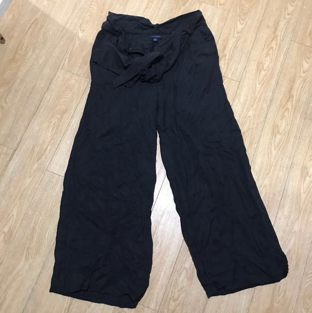 Witchery tencel navy blue culottes wide leg pants business or casual