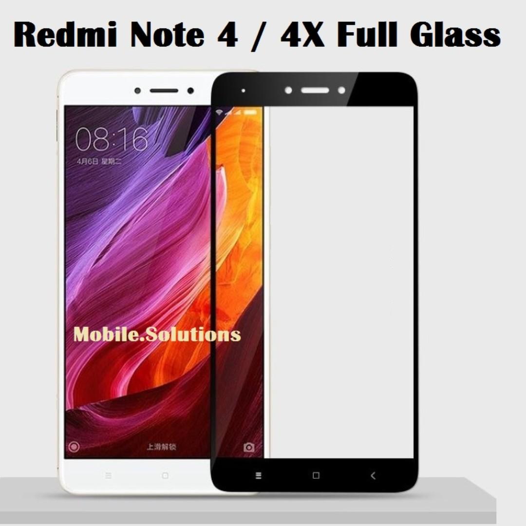 XiaoMi Redmi Note 4 / 4X ★ Full Coverage Tempered Glass