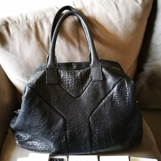 YSL easy pebbled tote bag