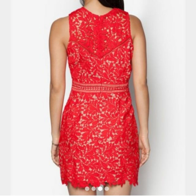[PL] Zalora Red Lace Dress