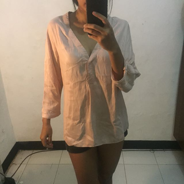 Zara golden silk blouse