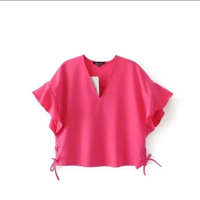 Zara inspired Hot Pink Top