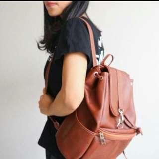 Backpack Ransel Kulit coklat your bag