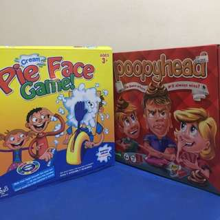 Poopyhead && Pie Face Games (250 each)