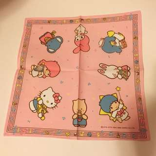 Sanrio vintage Little Twin Stars Cheery Chums My Melody Kitty Sam 手巾 1988