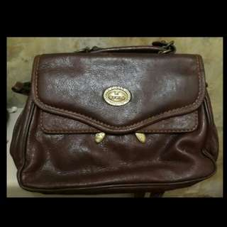 Vintage pure leather bag. Uk pat 1519246
