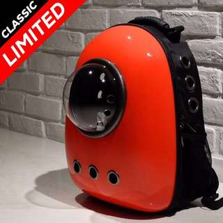 """""""Red"""" Astronaut Capsule Cat Bubble Backpack Carrier"""