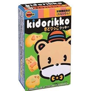 (全新訂購) 日本製造 百邦 Bourbon Kidorikko 動物曲奇餅乾 55g (原盒 10 包)