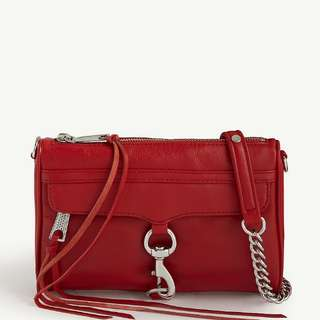 $2260 REBECCA MINKOFF Mini Mac grained leather cross-body bag   Valentine's Day Chinese New Year,birthday,Anniversary gift  情人節新年生日週年禮物 包郵 included local postage
