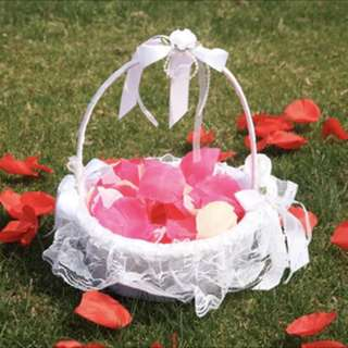 Flower Girl basket in white
