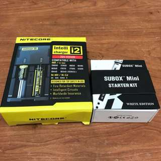 🚚 【牛魔王】原廠正品Kanger TOPBOX mini 75w 溫控 SUBOX MINI + NITECORE NEW i2智能充電器