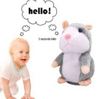 Talk back hamster. mimic your voice like tom cat.