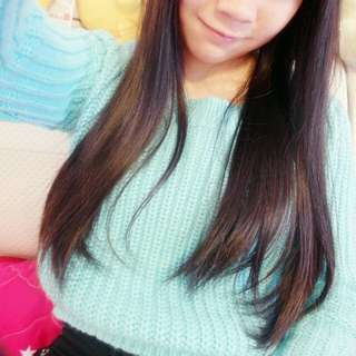 🚚 短版水藍毛衣