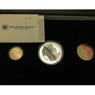 Malaysia 75th Anniversary of Taman Negara Proof Coin set of 3 Gold
