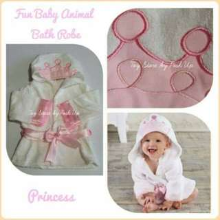 Baby Bath Robe Princess