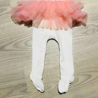 Baby girl pink tutu tights