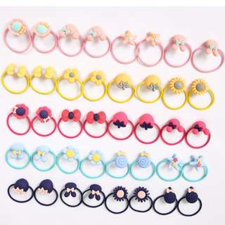 Hair Ties Set of 20 Pairs