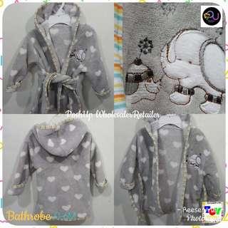 Baby Bathrobe Animal print