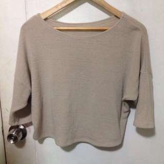Knitted nude crop top