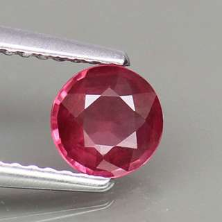 0.70ct Round Natural Pinkish Red Rhodolite Garnet