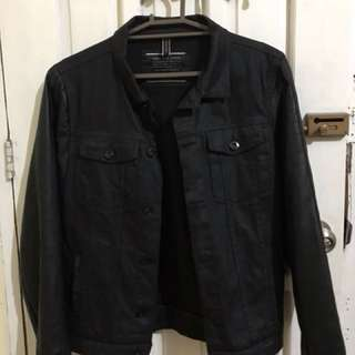 Zara Man Jacket Leather sleeves not Levis H&M Uniqlo