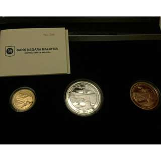 80th Anniversary of Malaysian Armed Forces Proof Coin set of 3 Gold