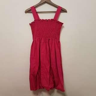 全新桃紅色SISLEY洋裝S號