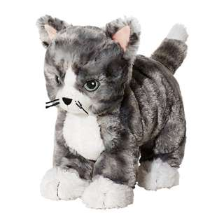 [IKEA] LILLEPLUTT Soft Toy / Cat Grey+White