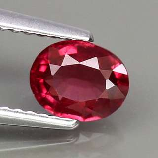 0.82ct Oval Natural Pinkish Red Rhodolite Garnet