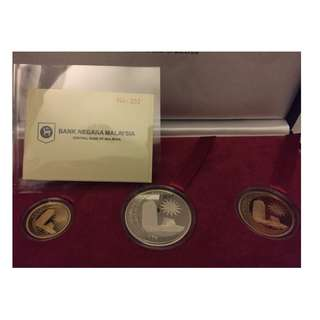 50th Anniversary of the Establishment of the Parliament Proof Coin set of 3 RARE
