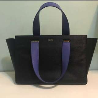 Giorgio Armani handbag work leather black A4 hand bag