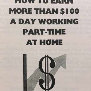 Earn more than $100 a Day working part-time at Home