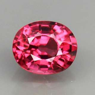 0.89ct Oval Natural Purplish Pink Rhodolite Garnet