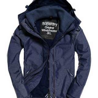 Supredry-Pop Zip Hooded Technical Windcheater Jacket