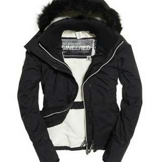 Supredry-Hooded Fur Sherpa SD-Wind Attacker Jacket