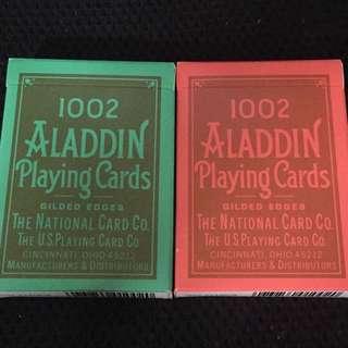 Set of Vintage 1002 Aladdin Gilded Gold Edges Playing Cards