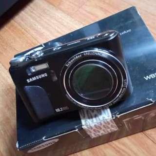 🚚 三星相機+附2個電池+8G記憶卡+充電器+清潔組+擦拭布+cd片+吊飾