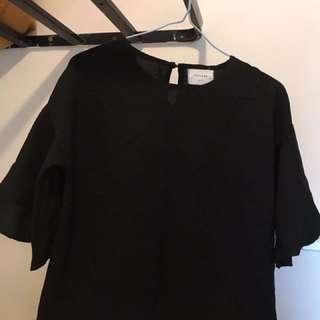 韓國黑色女裝返工衫 (只洗,從未穿)